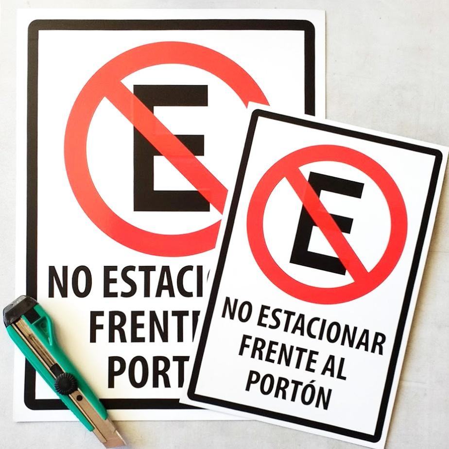 Letrero No Estacionar Frente alPortón