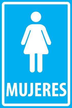Par Letrero Baño Hombres - Baño Mujeres 20x30 Cm X 0,35 Mm ...